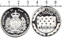 Монета Сан-Марино 5000 лир Серебро 1999 Proof фото