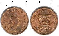Изображение Монеты Остров Джерси 1/4 шиллинга 1966 Медь XF Елизавета II