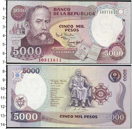 Картинка Банкноты Колумбия 5.000 песо  1995