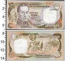 Изображение Банкноты Колумбия 2000 песо 1993  UNC-