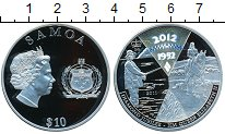 Изображение Монеты Самоа 10 тала 2011 Серебро Proof-