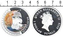 Изображение Подарочные наборы Тувалу 1 доллар 2012 Серебро Proof- <br>Мэйфлауэр.&nbsp;