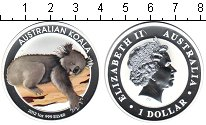 Изображение Монеты Австралия 1 доллар 2012 Серебро Proof- Австралийский коала
