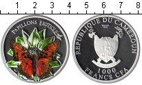 Изображение Монеты Камерун 1.000 франков 2011 Серебро Proof- бабочка