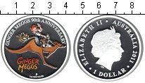 Изображение Монеты Австралия 1 доллар 2011 Серебро Proof- 90-летие Гингеру Мег
