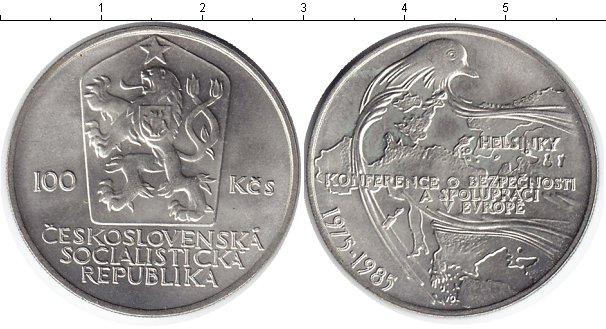 Картинка Монеты Чехословакия 100 крон Серебро 1985