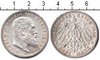 Изображение Монеты Вюртемберг 3 марки 1914 Серебро XF