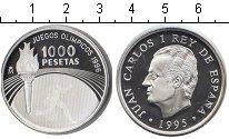 Изображение Монеты Испания 1000 песет 1995 Серебро Proof XXVI летние Олимпийс
