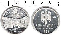 Изображение Монеты ФРГ 10 марок 1998 Серебро Proof- 300-летие со дня осн