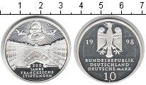 Изображение Монеты ФРГ 10 марок 1998 Серебро Proof-