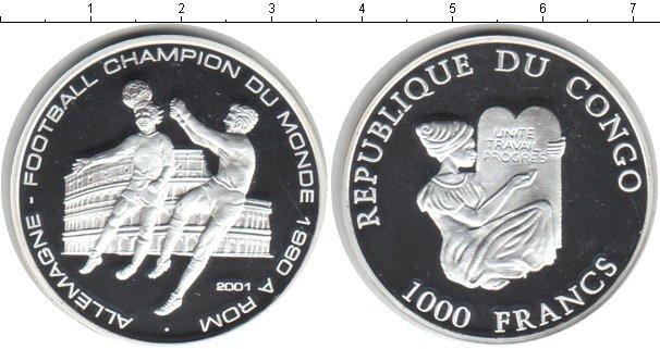 Картинка Монеты Конго 1.000 франков Серебро 2001