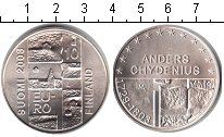 Изображение Монеты Финляндия 10 евро 2003 Серебро UNC 200-летие со дня сме