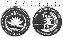 Изображение Монеты Бангладеш 1 така 1992 Серебро Proof