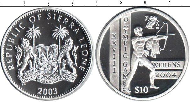 Картинка Монеты Сьерра-Леоне 10 долларов Серебро 2003