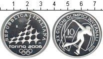 Изображение Монеты Италия 10 евро 2005 Серебро Proof- XX зимние Олимпийски