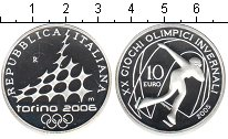 Изображение Монеты Италия 10 евро 2005 Серебро Proof XX зимние Олимпийски