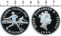 Изображение Монеты Тувалу 20 долларов 1994 Серебро Proof