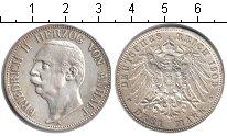 Изображение Монеты Германия Ангальт 3 марки 1909 Серебро XF