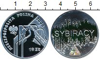 Изображение Монеты Польша 10 злотых 2008 Серебро Proof Сибиряки