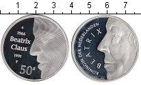 Изображение Монеты Нидерланды 50 гульденов 1991 Серебро