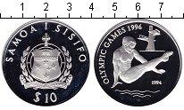 Изображение Монеты Самоа 10 долларов 1994 Серебро Proof-
