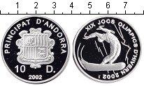 Изображение Монеты Андорра 10 динер 2002 Серебро Proof