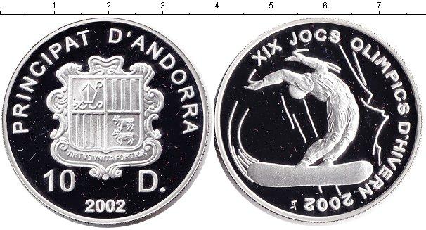 Картинка Монеты Андорра 10 динерс Серебро 2002