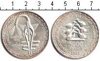 Изображение Монеты Западно-Африканский Союз 5000 франков 1982 Серебро UNC- 20-я годовщина образ