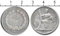 Изображение Монеты Индокитай 20 центов 1929 Серебро