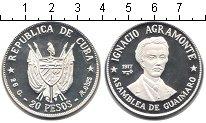 Изображение Монеты Куба 20 песо 1977 Серебро Proof-