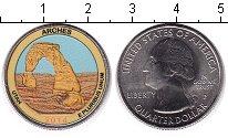 Изображение Цветные монеты США 1/4 доллара 2014 Медно-никель UNC-