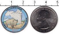 Изображение Цветные монеты США 1/4 доллара 2010 Медно-никель UNC- Йеллоустоунский наци