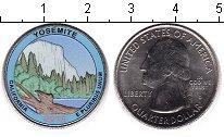 Изображение Цветные монеты США 1/4 доллара 2010 Медно-никель UNC- Йосемитский национал