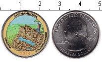 Изображение Цветные монеты США 1/4 доллара 2014 Медно-никель UNC Национальный парк Ше