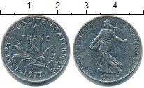 Изображение Барахолка Франция 1 франк 1977 Медно-никель VF