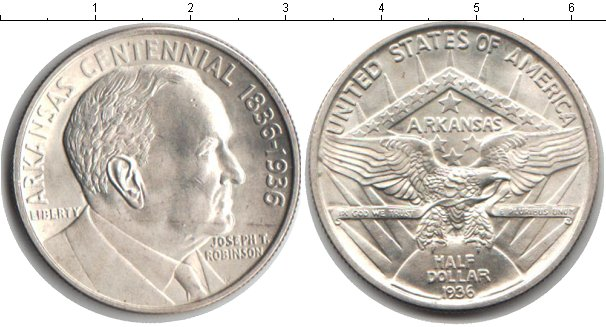 Картинка Монеты США 1/2 доллара Серебро 1936