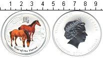 Изображение Монеты Австралия 1 доллар 2014 Серебро UNC Год лошади.