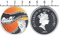Изображение Монеты Ниуэ 2 доллара 2011 Серебро Proof Тед Колсон