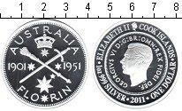 Изображение Монеты Острова Кука 1 доллар 2011 Серебро Proof
