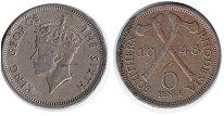 Изображение Монеты Родезия 6 пенсов 1948 Медно-никель XF
