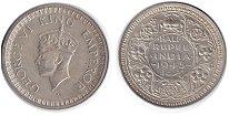 Изображение Монеты Индия 1/2 рупии 1945 Серебро XF Георг VI