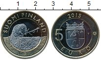 Изображение Мелочь Финляндия 5 евро 2015 Биметалл UNC