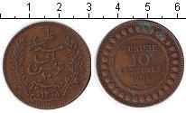 Изображение Монеты Тунис 10 сентим 1891 Медь
