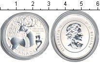 Изображение Монеты Канада 20 долларов 0 Серебро Proof- Елизавета II. Олень