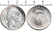 Изображение Монеты Сан-Марино 500 лир 1981 Серебро XF