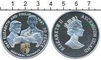 Изображение Монеты Аскенсион 50 пенсов 1997 Серебро Proof- Елизавета и Филипп