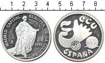Изображение Монеты Испания 5 экю 1992 Серебро Proof-