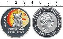 Изображение Монеты Ниуэ 1 доллар 2007 Серебро Proof- Год крысы