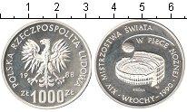 Изображение Монеты Польша 1000 злотых 1988 Серебро Proof-