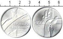 Изображение Монеты Сан-Марино 1000 лир 1990 Серебро UNC-